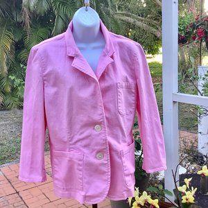 Denim Jacket Pink Chaps Large